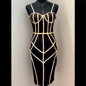Dresses & Skirts - Beautiful Midi Bandage Black Dress. Size L